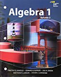 Image for HMH Algebra 1: Interactive Student Edition Volume 2 2015