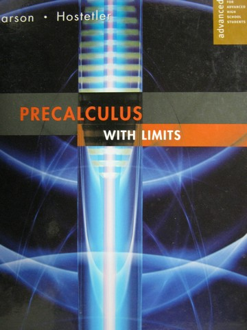 Image for Precalculus With Limits. Advanced. For Advanced High School Students.